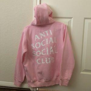 005668c7cc09 Anti Social Social Club Tops - ANTI SOCIAL SOCIAL CLUB PINK HOODIE!!! ✨